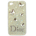 Brand New Bowknot S-warovski bling crystal case for iphone 4G - white