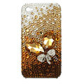 Brand New Bowknot S-warovski bling crystal case for iphone 4G - yellow