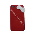 Brand New Bowknot Silicone case for iphone 4G - red