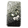 Brand New Bowknot S-warovski bling crystal case for iphone 4G - black