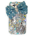 Brand New Bowknot S-warovski bling crystal case for iphone 4G - blue