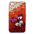 Brand New Bowknot S-warovski bling crystal case for iphone 4G - red