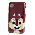 Squirrel Cartoon Plastic Hard Case Cover For Samsung i9000 - Brown