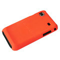 Ultra-thin scrub color covers for Samsung i9000 - orange