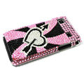 Heart bling Crystal case for Samsung i9000 - white