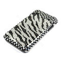 Zebra bling crystal for Samsung i9000 case - black