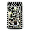 black rose bling crystal for Samsung i9003 case