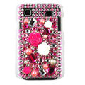 pink rose bling crystal for Samsung i9003 case