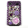 Purple rose bling crystal for Samsung i9003 case