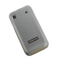 Silicone case for Samsung i9003 - Transparent Black