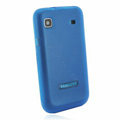 Silicone case for Samsung i9003 - Transparent blue