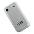Silicone case for Samsung i9003 - Transparent white