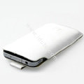 Simple leather case for Samsung i9003 - white