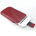 Brand Imak Leather Case for Samsung S5830 - red