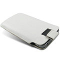 Brand Imak Leather Case for Samsung S5830 - white