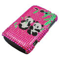 Panda bling crystal case for HTC G8 - pink
