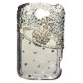S-warovski bling crystal case for HTC G8 - gold saturn