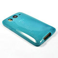 Silicone Case For HTC DESIRE HD A9191 G10 - blue