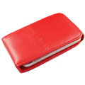 Simple leather case for HTC G8 - red