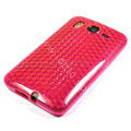 Silicone Case For HTC DESIRE HD G10 A9191 - pink diamond pattern
