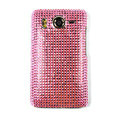 Bling crystal case for HTC Desire HD A9191 G10 - pink
