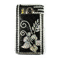Flower crystal case for HTC Desire HD A9191 G10 - black