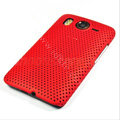 Mesh Hard Case For HTC Desire HD G10 - red