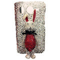 Rabbit S-warovski bling crystal case for HTC G10 - red