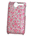 Color covers bling crystal case for HTC G7 - pink