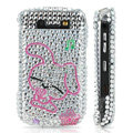 Bling crystal case for Blackberry 8900 - pink