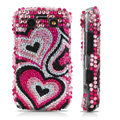 Bling crystal case for BlackBerry 9700 - pink heart pattern
