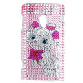 Cartoon Bling crystal case for Sony Ericsson X10 - pink