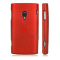 Scrub color covers for Sony Ericsson X10 - red