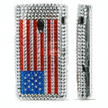 bling crystal case for Sony Ericsson X10 - red