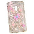 bowknot pearl crystal case for Sony Ericsson X10