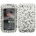 Bling crystal case for BlackBerry 8520 - white