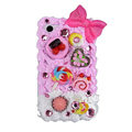 Bowknot ice cream cake case for BlackBerry 8520 - pink