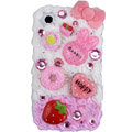 Lucky rabbit ice cream cake case for BlackBerry 8520 - pink