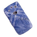 Jeans Pattern Hard Plastic case for Blackberry 9700 - blue
