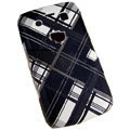 Lattice pattern Hard Plastic case for Blackberry 9700 - black