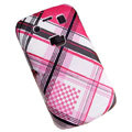 Lattice pattern Hard Plastic case for Blackberry 9700 - pink