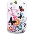 Butterfly pattern Silicone Case For BlackBerry 8520