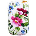Flower pattern Silicone Case For BlackBerry 8520