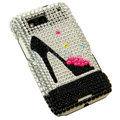 High-heeled shoes Bling crystal case for Motorola ME525
