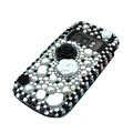 Black Flower 3D bling crystal case for Nokia C7