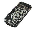 Black butterfly bling crystal case for Nokia C7