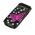 butterfly bling crystal case for Nokia C7 - pink
