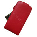 Simple Leather Case For Motorola XT701 - red
