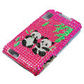 Panda bling crystal case for Motorola ATRIX 4G MB860 - rose