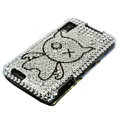 Bling crystal case for Motorola MB860 - white
